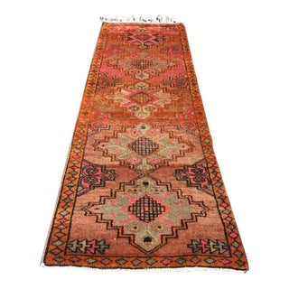 Vintage Turkish Runner Rug - 3′6″ × 10′10″