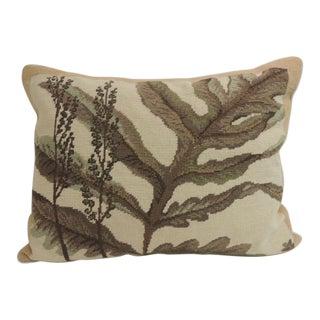 Vintage Large Fern Leaf Tapestry Decorative Lumbar Pillow