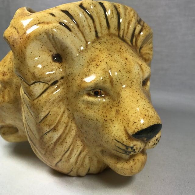 Mid-Century Lion Head Planter or Vase - Image 10 of 11