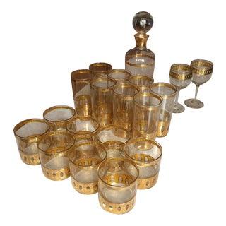 24 kt Gold Culver Set - Set of 19