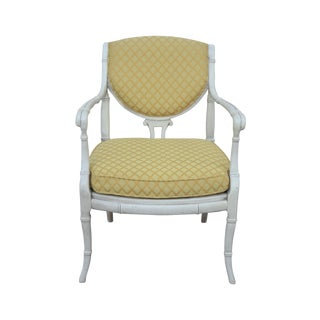 Bernhardt Chinoiserie Faux Bamboo Accent Armchair