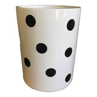 Lenox Kate Spade White & Black Dot Utensil Holder