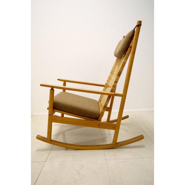 Hans Olsen Vintage Danish Teak Rocking Chair  Chairish