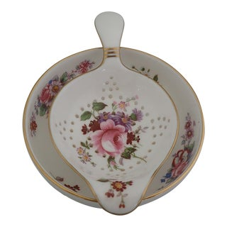 Floral Tea Strainer and Drip Bowl