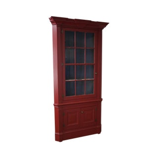 Robert Sykes Jr. Custom Crafted Painted Corner Cabinet