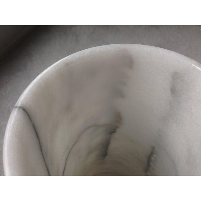 "Image of Vintage 17"" White Marble Vase"