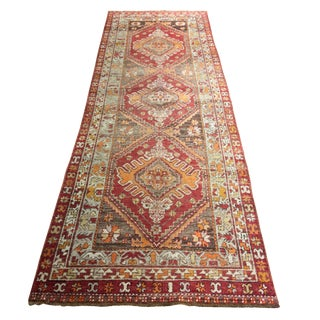 "Vintage Turkish Oushak Runner - 3'5"" x 10'1"""