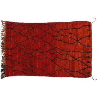 Vintage Berber Moroccan Tribal Rug - 5′ × 7′10″