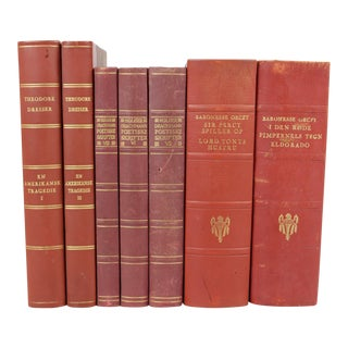 Leather-Bound Books S/7