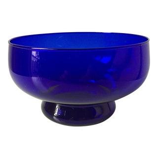 """Vintage Cobalt Bristol Glass Bowl-7"""""""