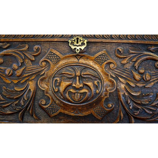 Ornate Hand Carved Oak Secretary Desk - Image 2 of 7