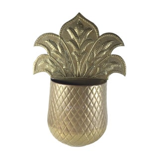 Brass Pineapple Wall Pocket