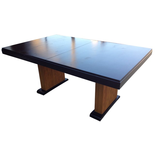Image of Paul Frankl Vintage 1940s Combed Wood Dining Table