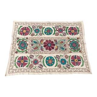 Vintage Suzani Bedspread Pastel Table Cloth