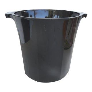 French Black Glass Champagne Cooler