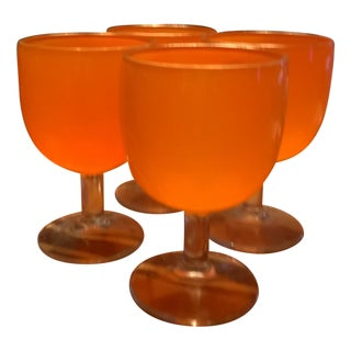 Orange Water Goblets - Set of 4