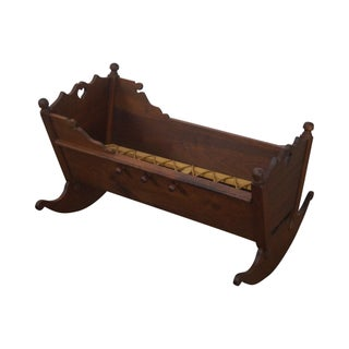 Alvin Rothenberger 18th Century Style Walnut Cradle