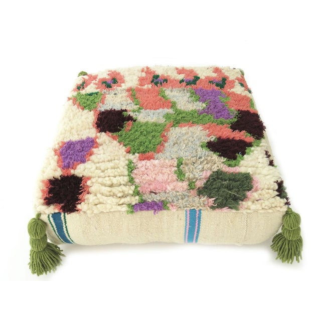 Vintage Abstract Moroccan Pouf - Image 2 of 8