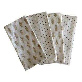 Cotton Holiday Napkins - Set of 4