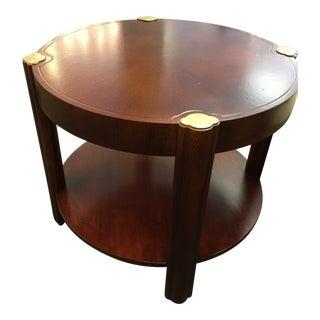 Baker Oak & Brass Round Table