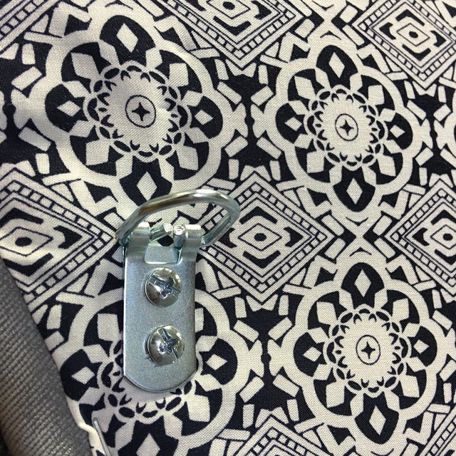 Queen Grey Upholstered Headboard, Nailhead Trim - Image 6 of 6