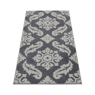 "Transitional Trellis Gray Rug - 5'3"" x 7'4"""