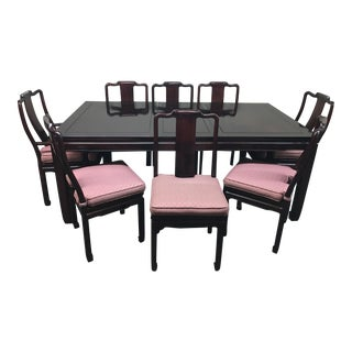 Rosewood Dining Room Table & Chairs - Set of 9