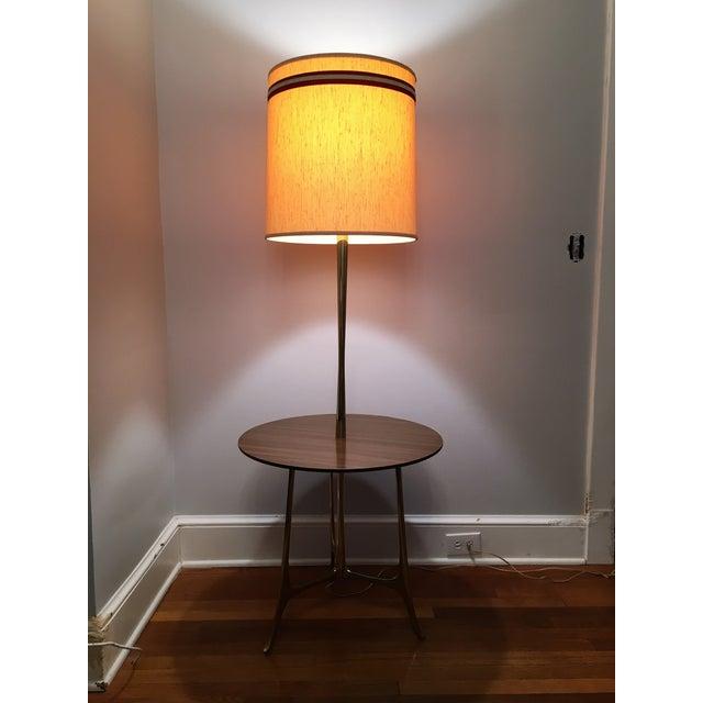 Mid Century Modern Tray Table Floor Lamp Chairish