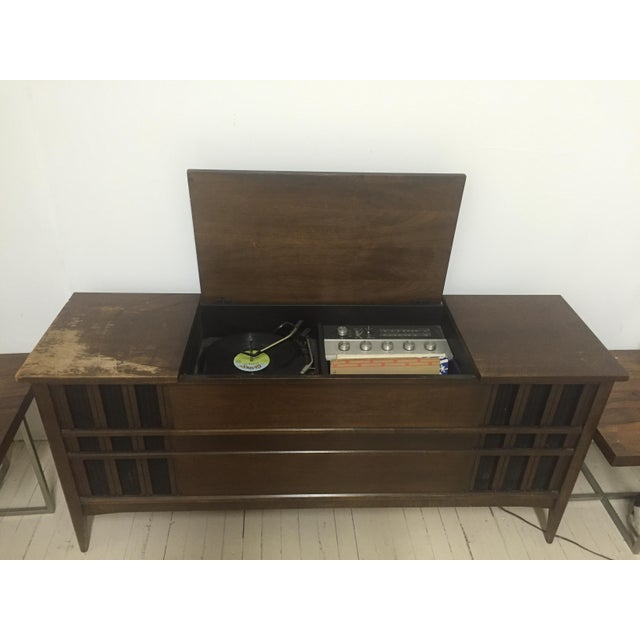 Vintage Garrard Record Player And Speaker Console.