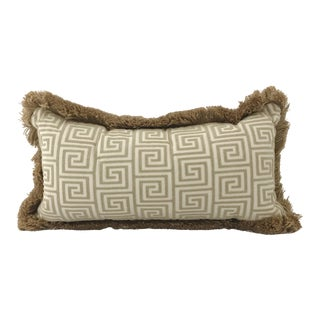 Jute Welt Tone on Tone Greek Key Lumbar Pillow
