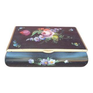 Floral Painted Metal Box