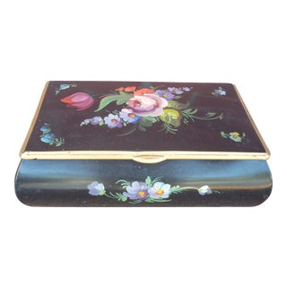 Floral Painted Metal Box