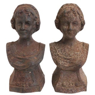 Andiron French Lady Chenets - a Pair