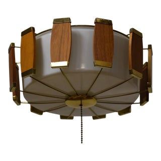Lightolier Walnut Light Fixture