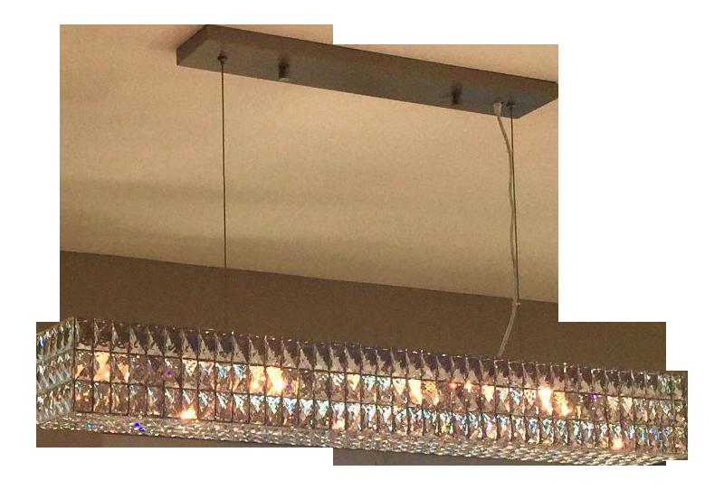 Restoration Hardware Return Policy restoration hardware spiridon linear chandelier | chairish