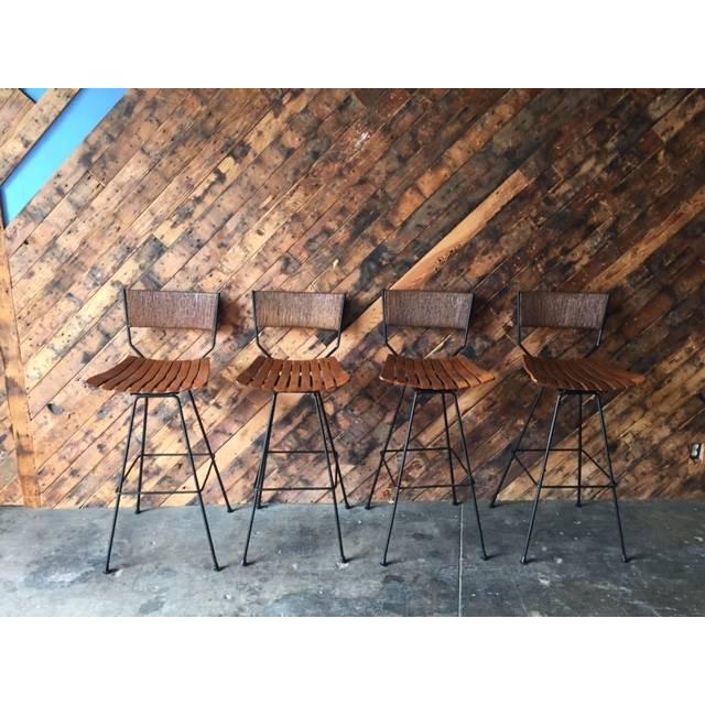 Refinished Arthur Umanoff Barstools- Set of 4 - Image 3 of 9