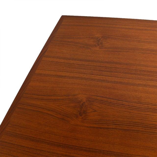 Danish Modern Teak Two-Tone Expanding Dining Table - Image 3 of 6