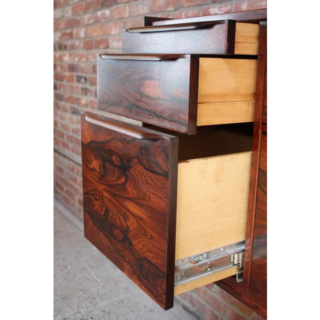 Monumental Scandinavian Modern Rosewood Floating Credenza - Image 5 of 11