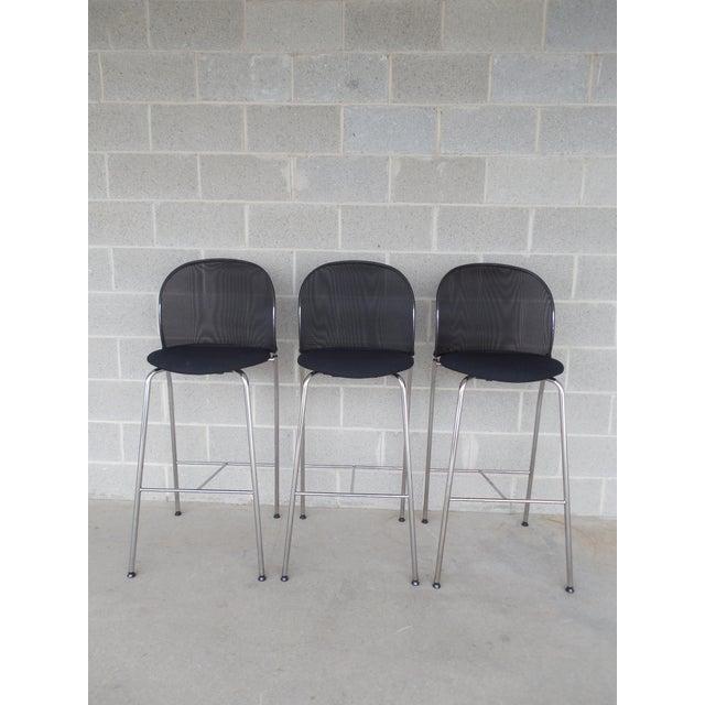 Christoph Hindermann Design for Davis Furniture Modern Bar Stools - Set of 3 - Image 2 of 10