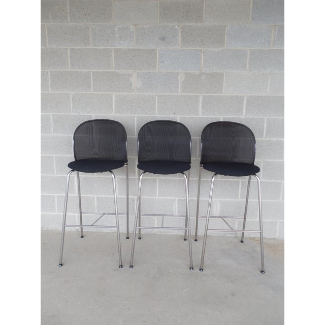 Image of Christoph Hindermann Design for Davis Furniture Modern Bar Stools - Set of 3