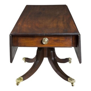 Large Pedestal Mahogany Classical Harvest Table