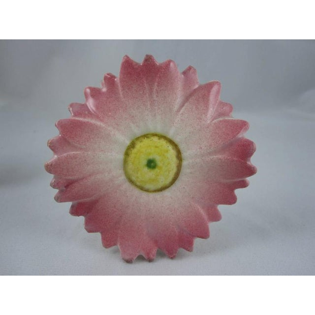 Delphin Massier French Majolica Pink Floral Place Card Holders - Set of 4 - Image 3 of 10
