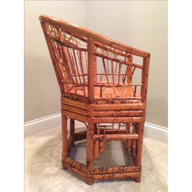 Chinese Chippendale Style Bamboo Chair - Image 8 of 8