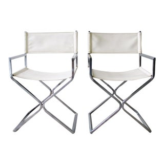 Chrome Director's Chairs - A Pair