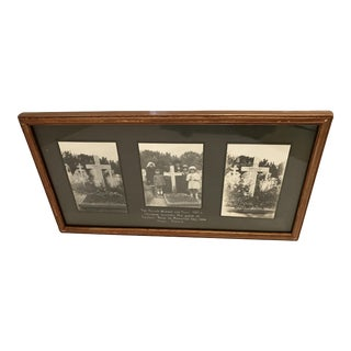 Antique French Funerary Scene Triptych