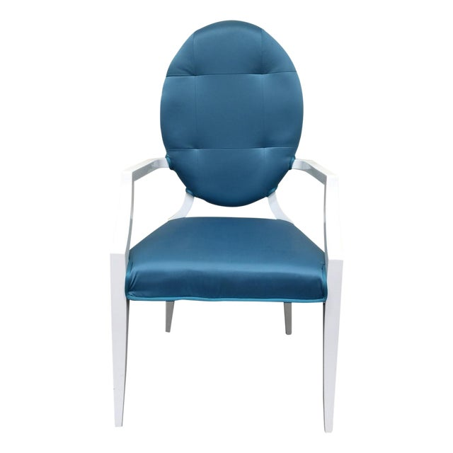 Modrest Versus Emma Fabric Turquoise Chair - Image 1 of 6