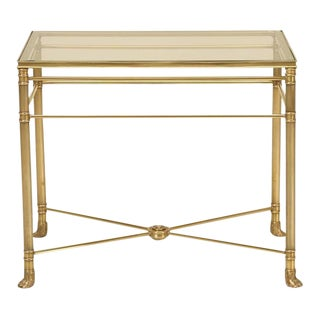 Mid-Century Modern Brass End Table