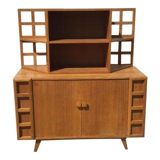 Teak Two-Piece Sideboard & Hutch