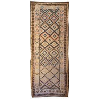 Early 20th Century Persian Shahsavan Kilim Runner - 5′ × 14′3″