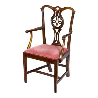 Chippendale George III Mahogany Armchair